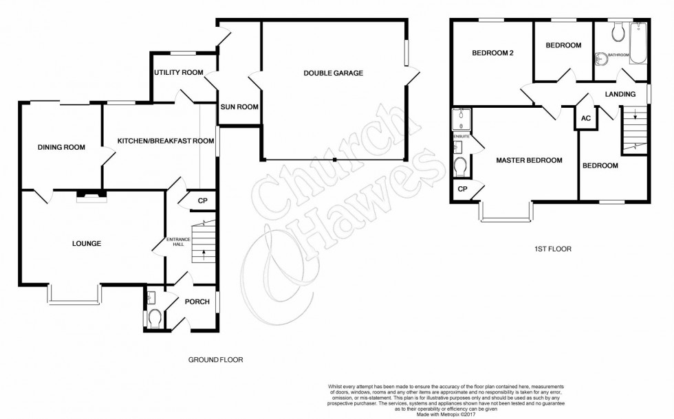 Floorplan for Captains Wood Road, Great Totham, Maldon