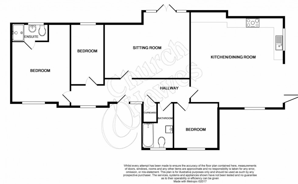 Floorplan for Catchpole Lane, Great Totham