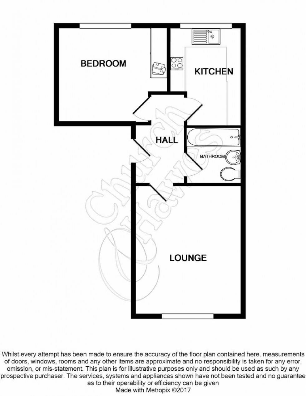 Floorplan for Culver Rise, South Woodham Ferrers