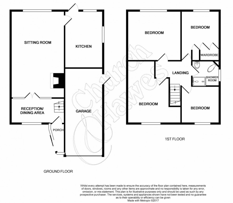 Floorplan for Rectory Road, Tiptree