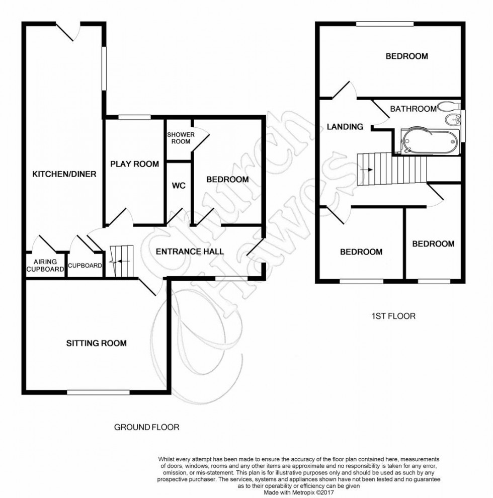 Floorplan for Millways, Great Totham, Maldon
