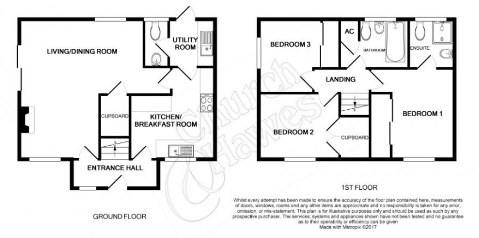 Floorplan for Hester Place, Burnham-On-Crouch
