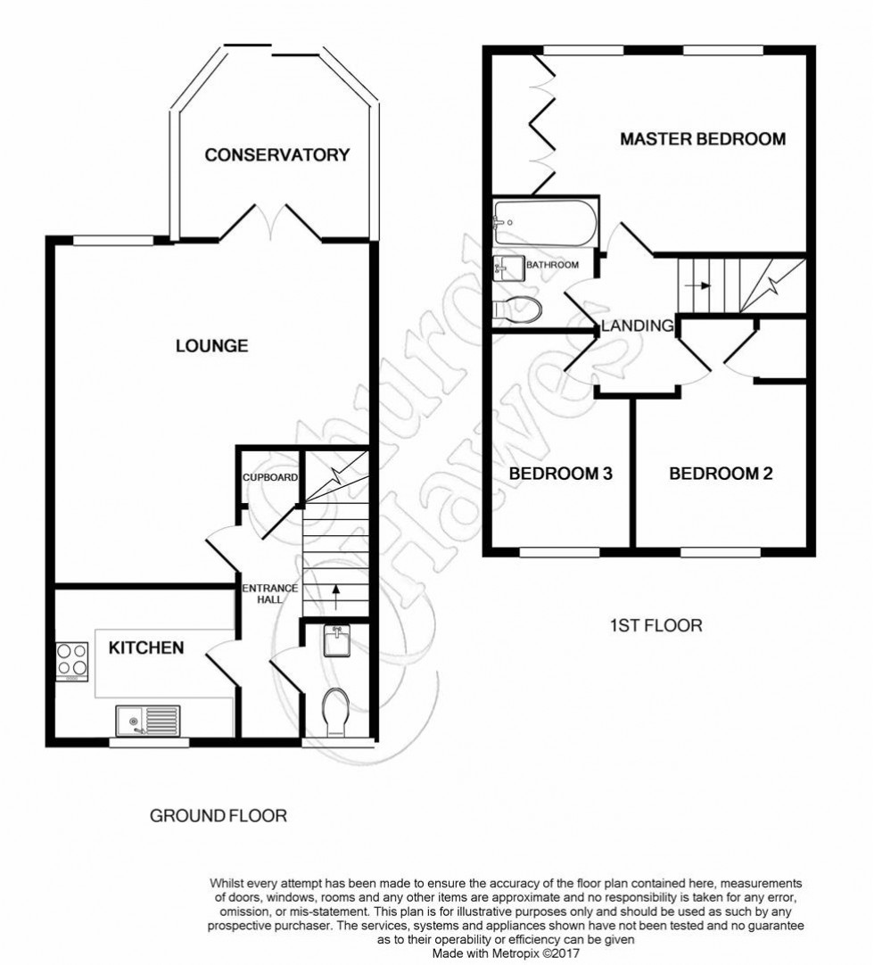 Floorplan for Caxton Close, Tiptree
