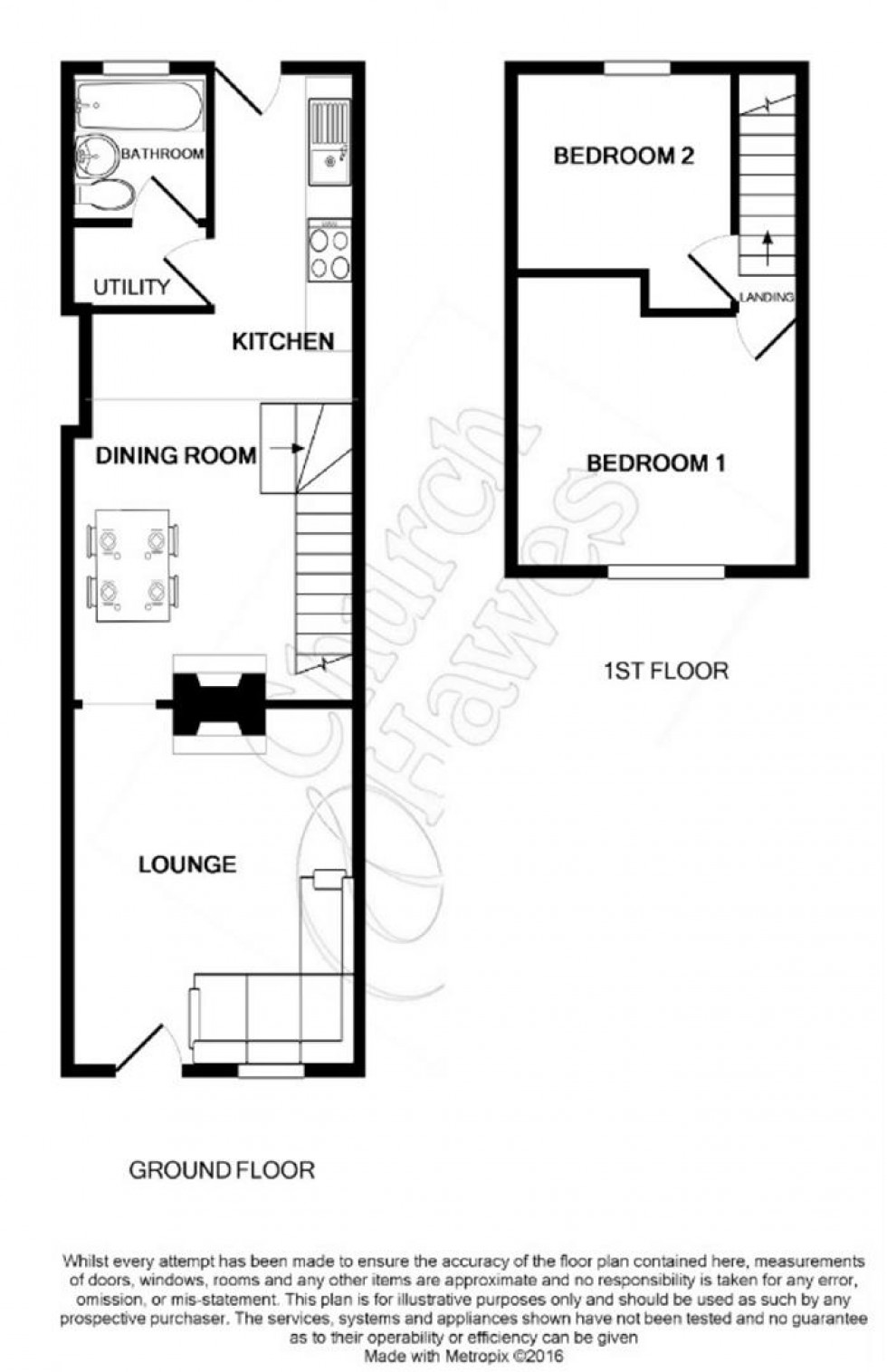 Floorplan for Station Road, Southminster