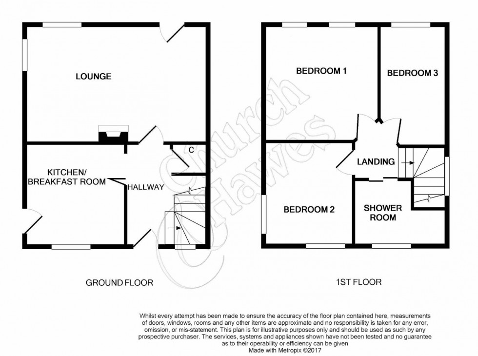 Floorplan for Granger Avenue, Maldon