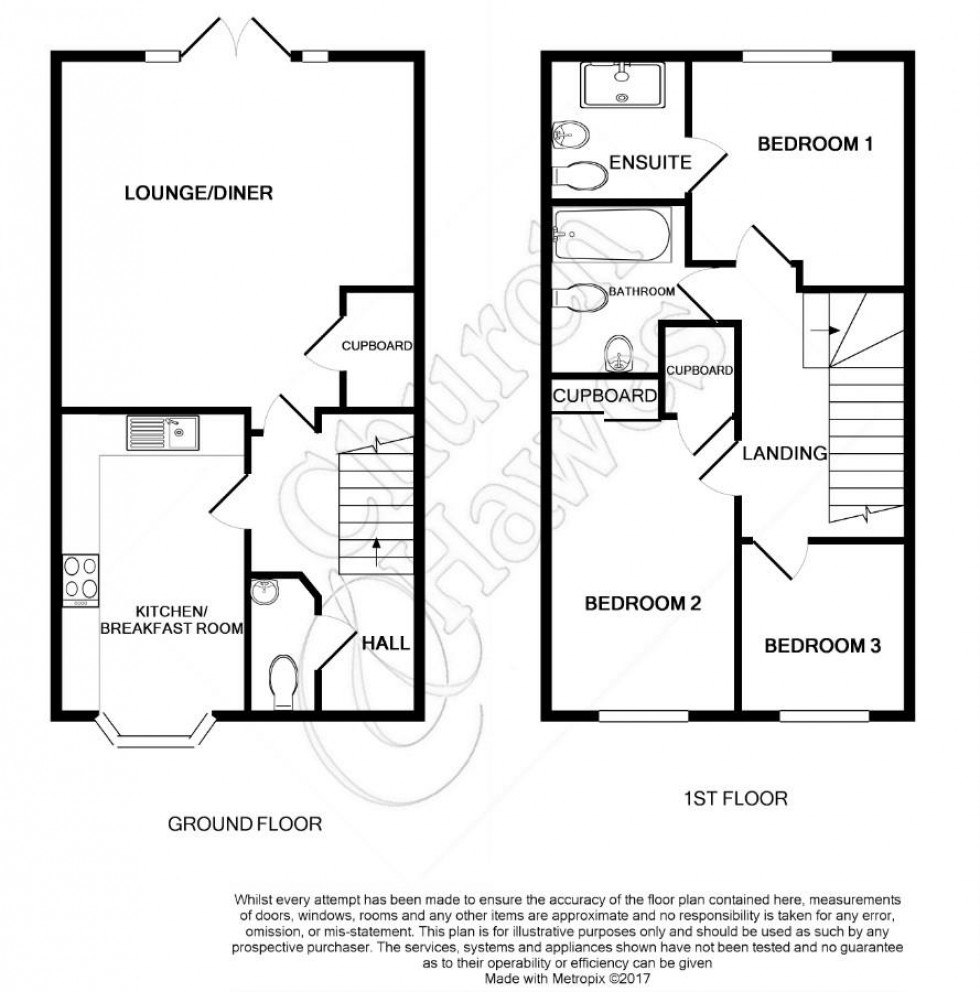 Floorplan for Larch Grove, Southminster