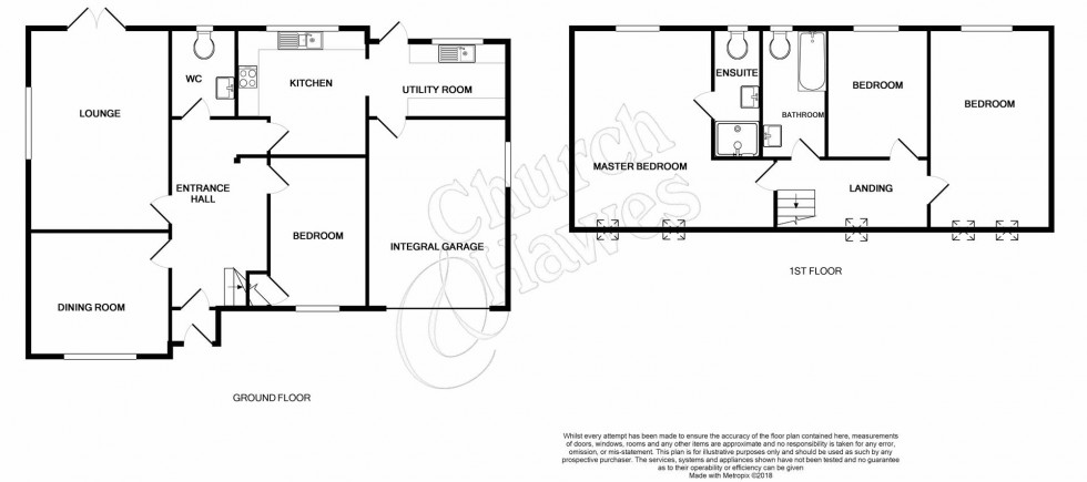 Floorplan for Hall Road, Great Totham