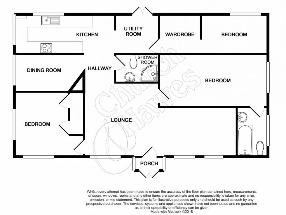 Floorplan for Hatfield Road, Langford,