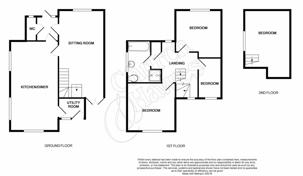 Floorplan for Church Road, Wickham Bishops
