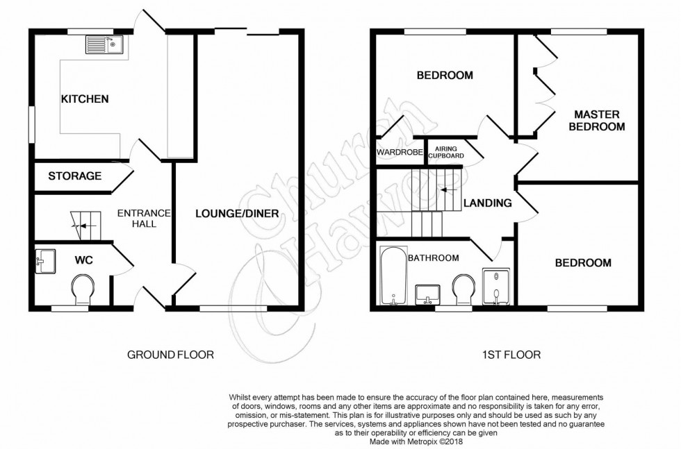 Floorplan for Seagers, Great Totham, Maldon