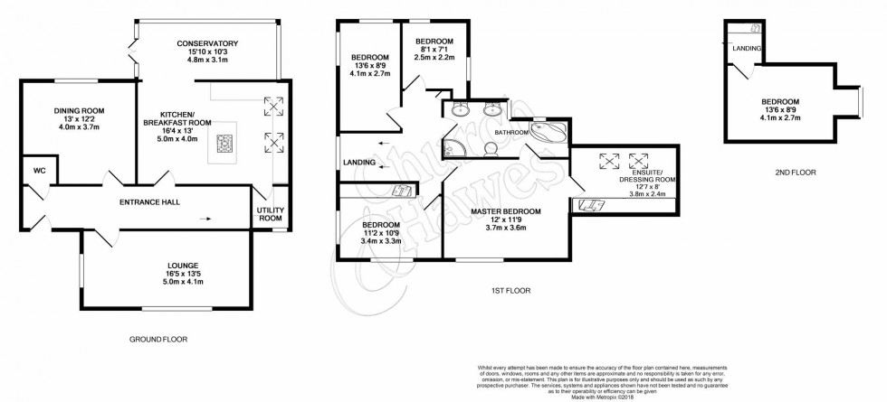 Floorplan for Drywoods, South Woodham Ferrers, Chelmsford