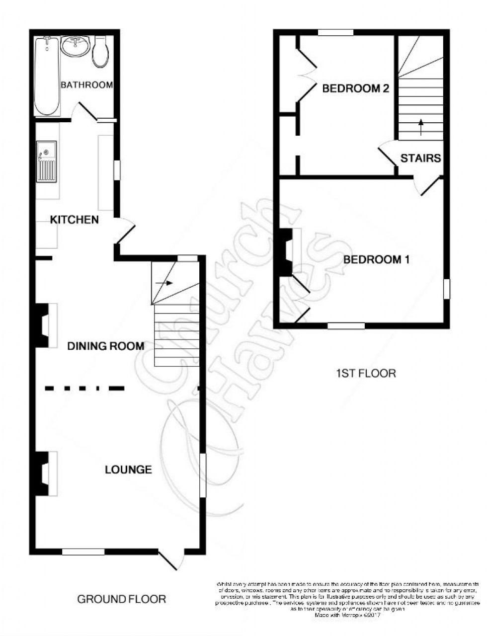 Floorplan for Kings Road, Southminster