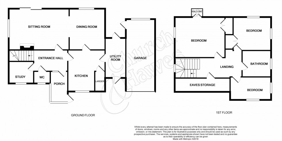 Floorplan for Witham Road, Wickham Bishops