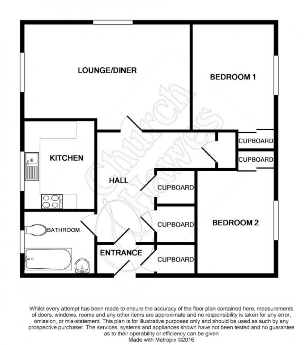 Floorplan for Orchard Road, Burnham-on-Crouch