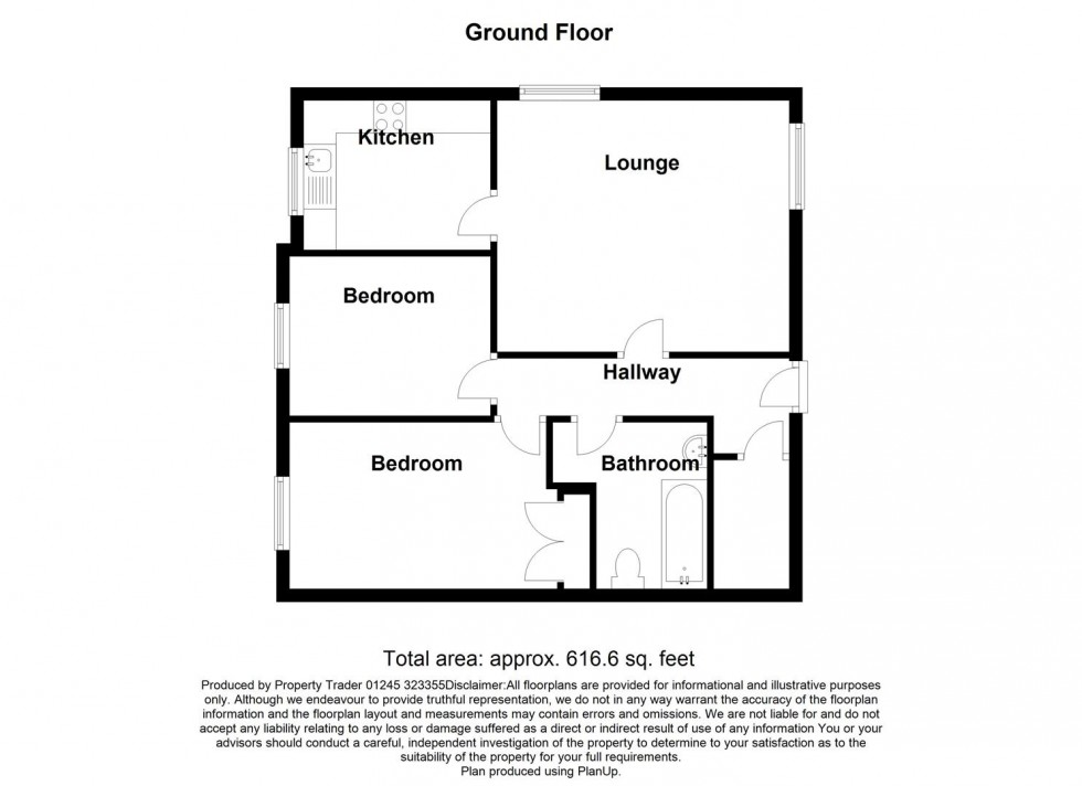 Floorplan for Petticrow Quays, Belvedere Rd, Burnham-On-Crouch