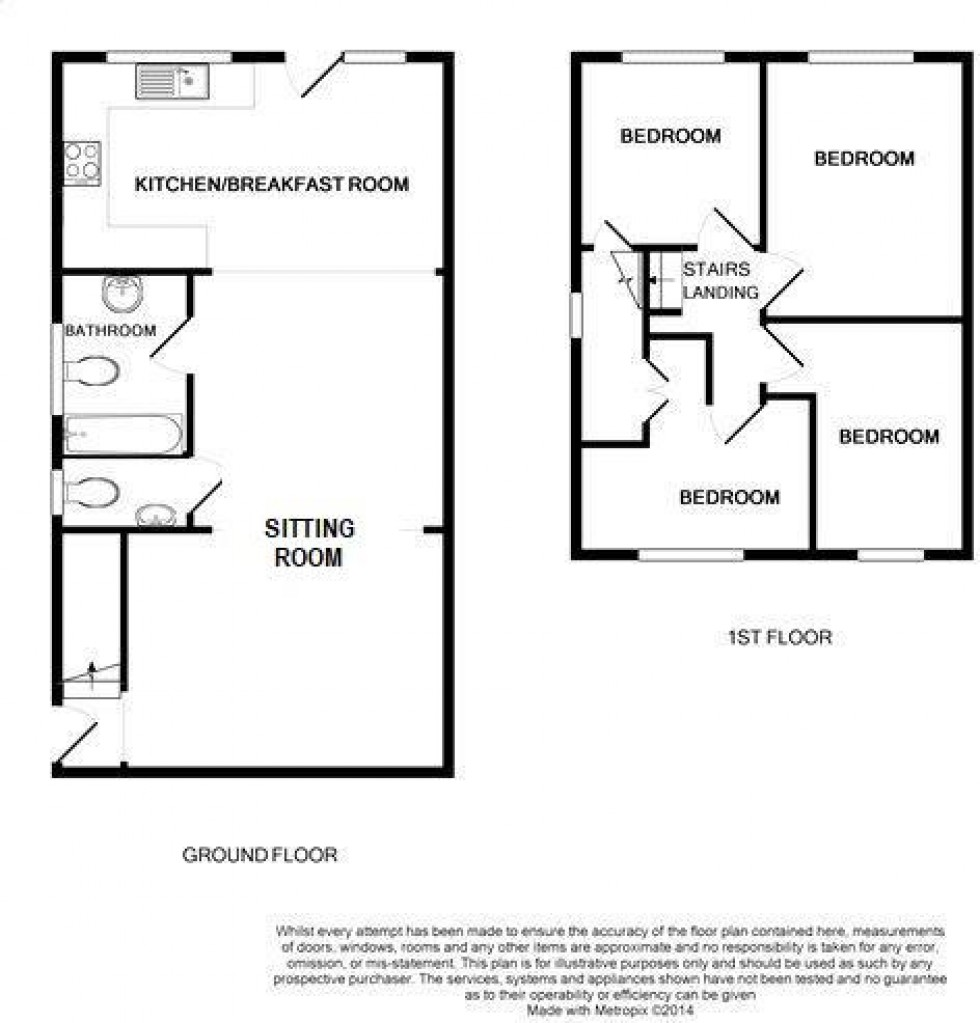 Floorplan for New Road, Tiptree