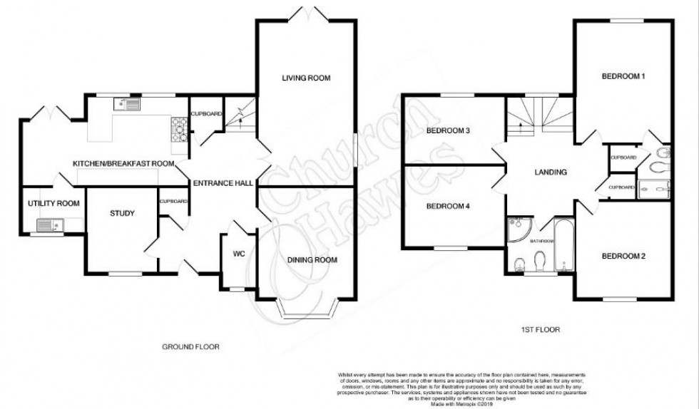 Floorplan for Woodside, Southminster