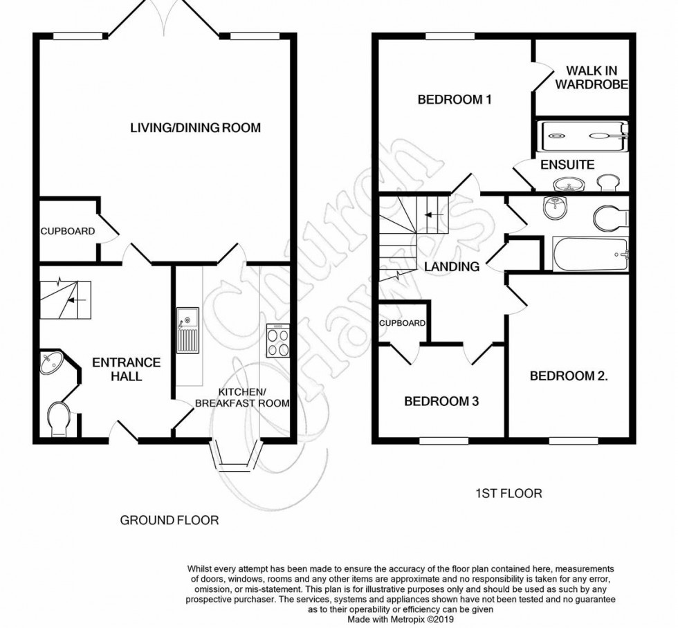 Floorplan for Rowan End, Southminster
