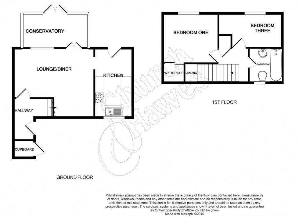 Floorplan for Helena Court, South Woodham Ferrers.