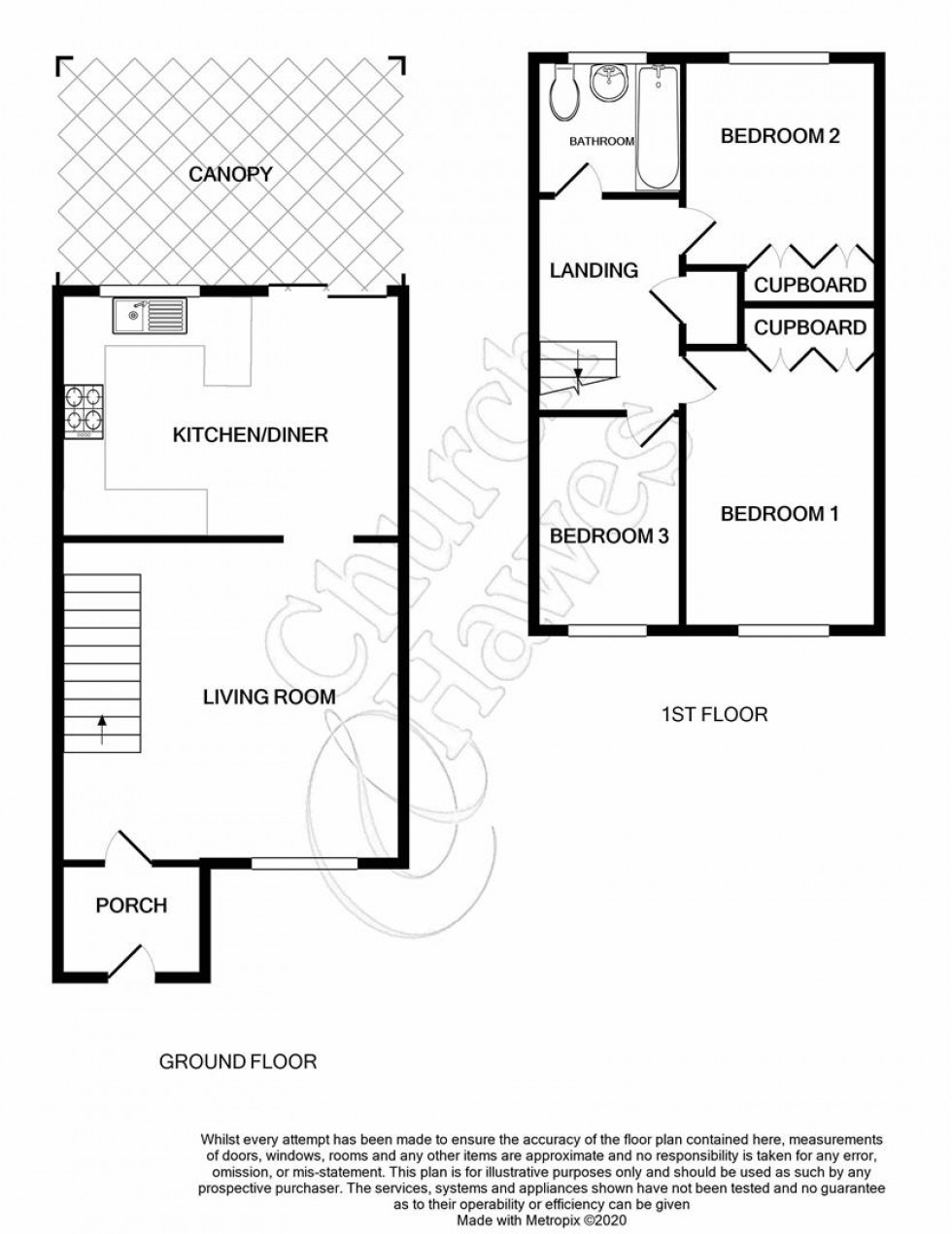 Floorplan for Garden Close, Althorne
