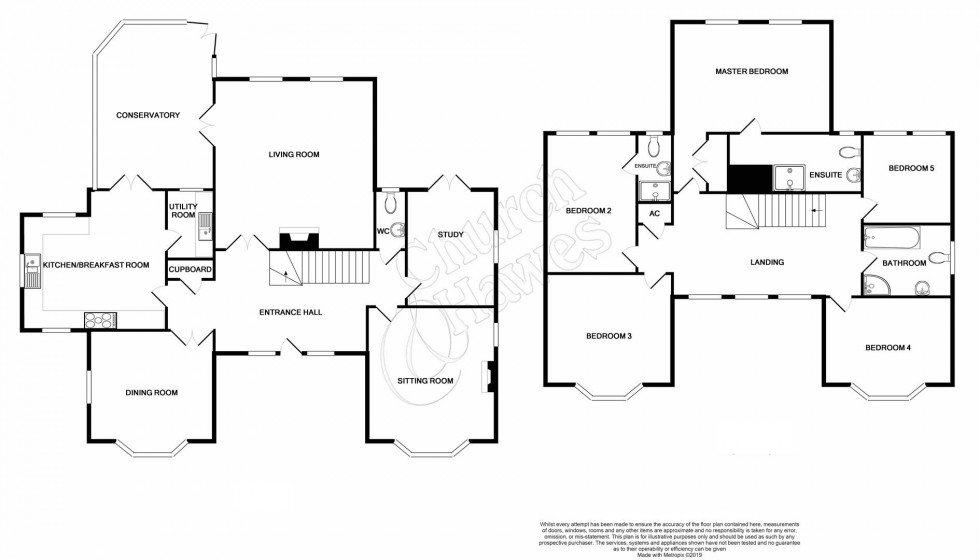 Floorplan for St. Peter's Court, Bradwell-On-Sea