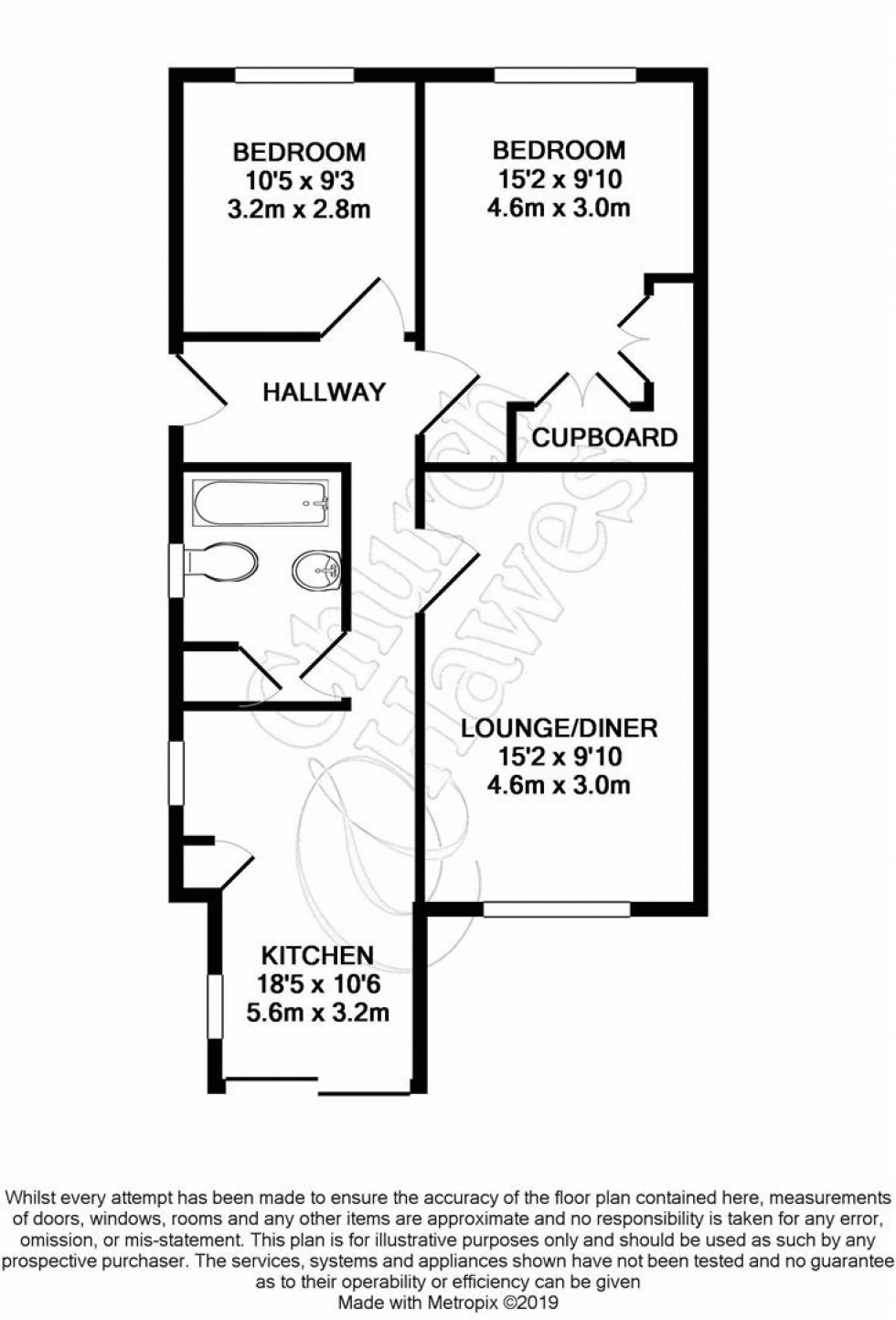 Floorplan for North Drive, Mayland, Chelmsford