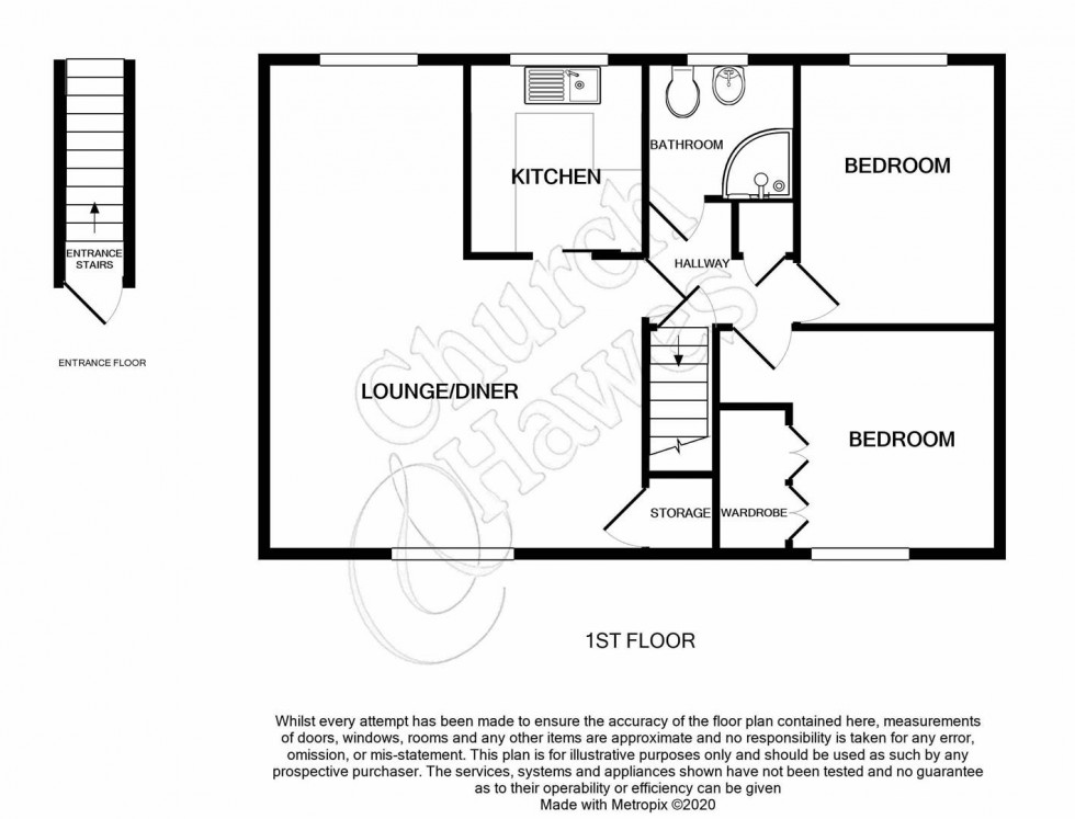 Floorplan for Princes Road, Maldon