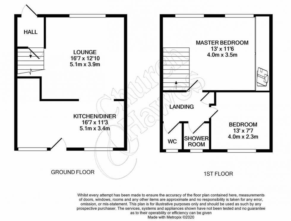 Floorplan for Colchester Road, Great Totham, Maldon