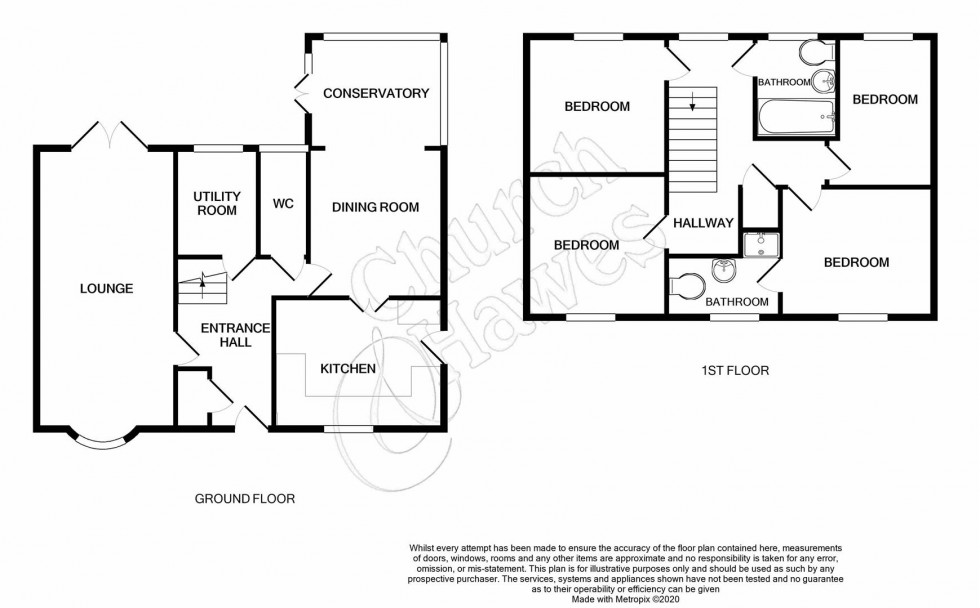 Floorplan for Bridgemans Green, Latchingdon, Chelmsford