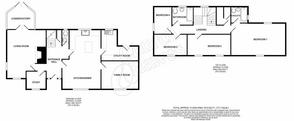 Floorplan for Mill Road, Burnham-on-Crouch