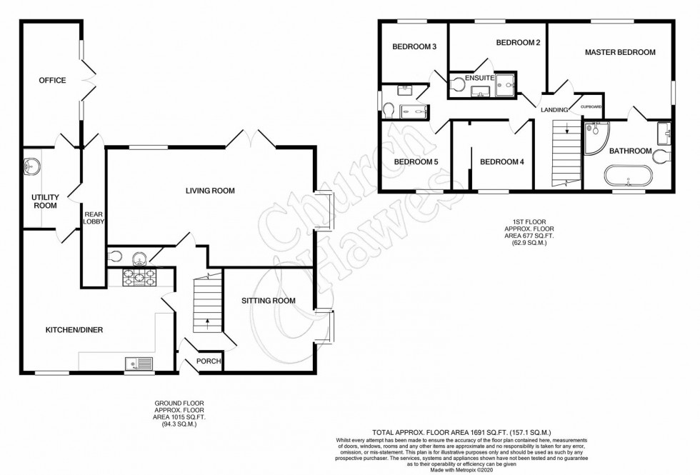 Floorplan for Pinners Close, Burnham-on-Crouch