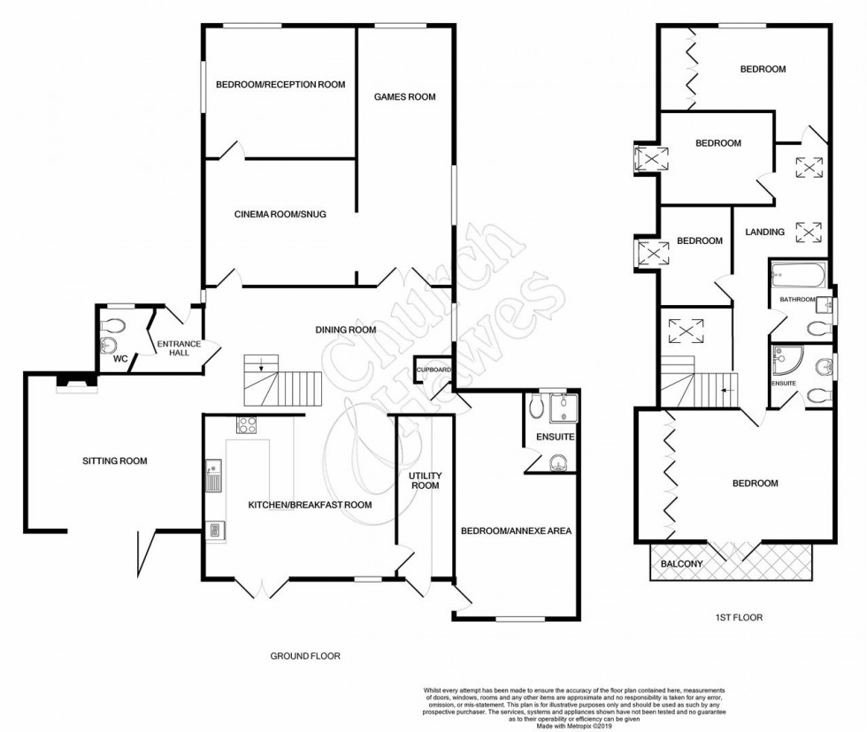 Floorplan for School Road, Wickham Bishops