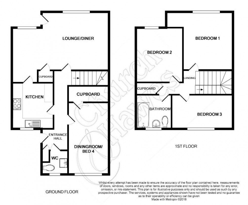 Floorplan for Pippins Road, Burnham-on-Crouch