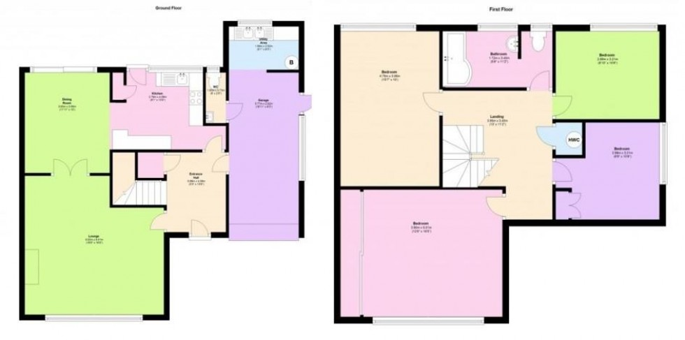 Floorplan for Highfield Close, Danbury