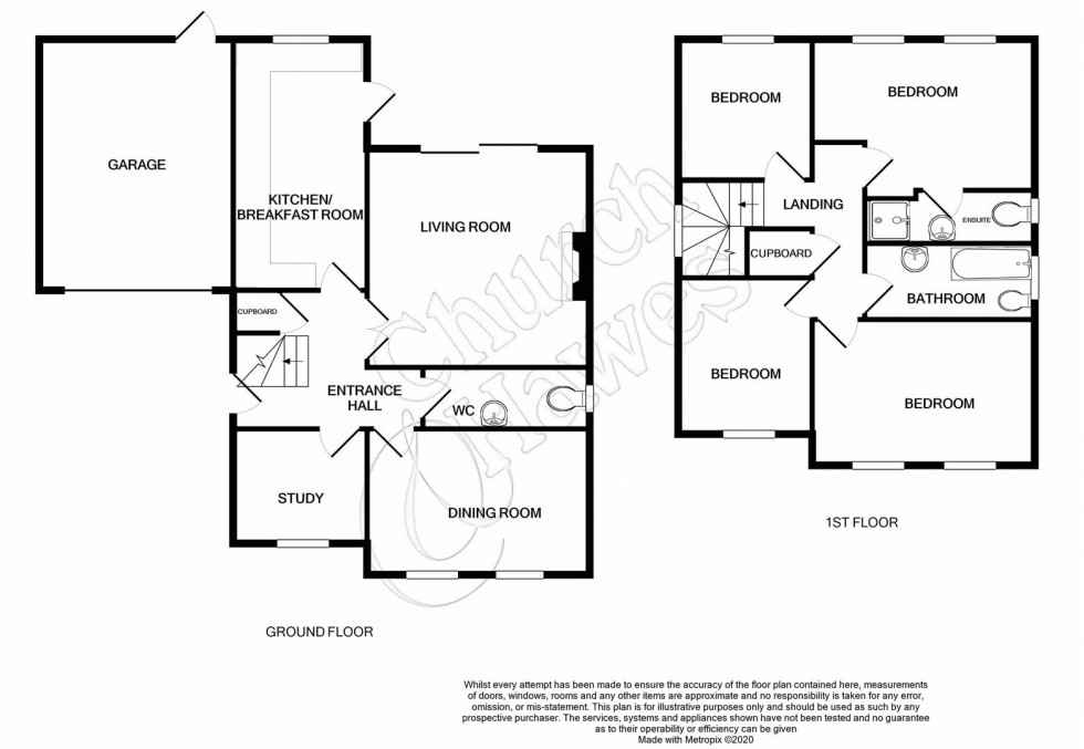 Floorplan for Lavender Drive, Southminster