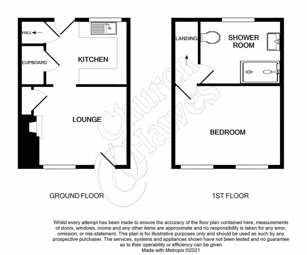 Floorplan for Bridge Terrace, Heybridge