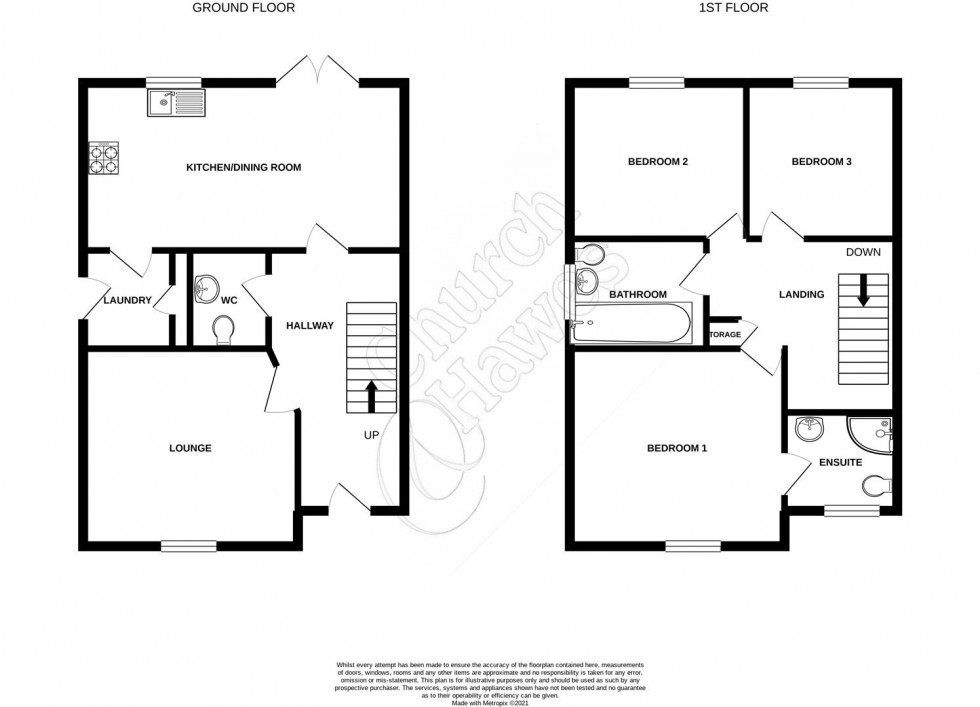 Floorplan for Swifts Boulevard, Heybridge